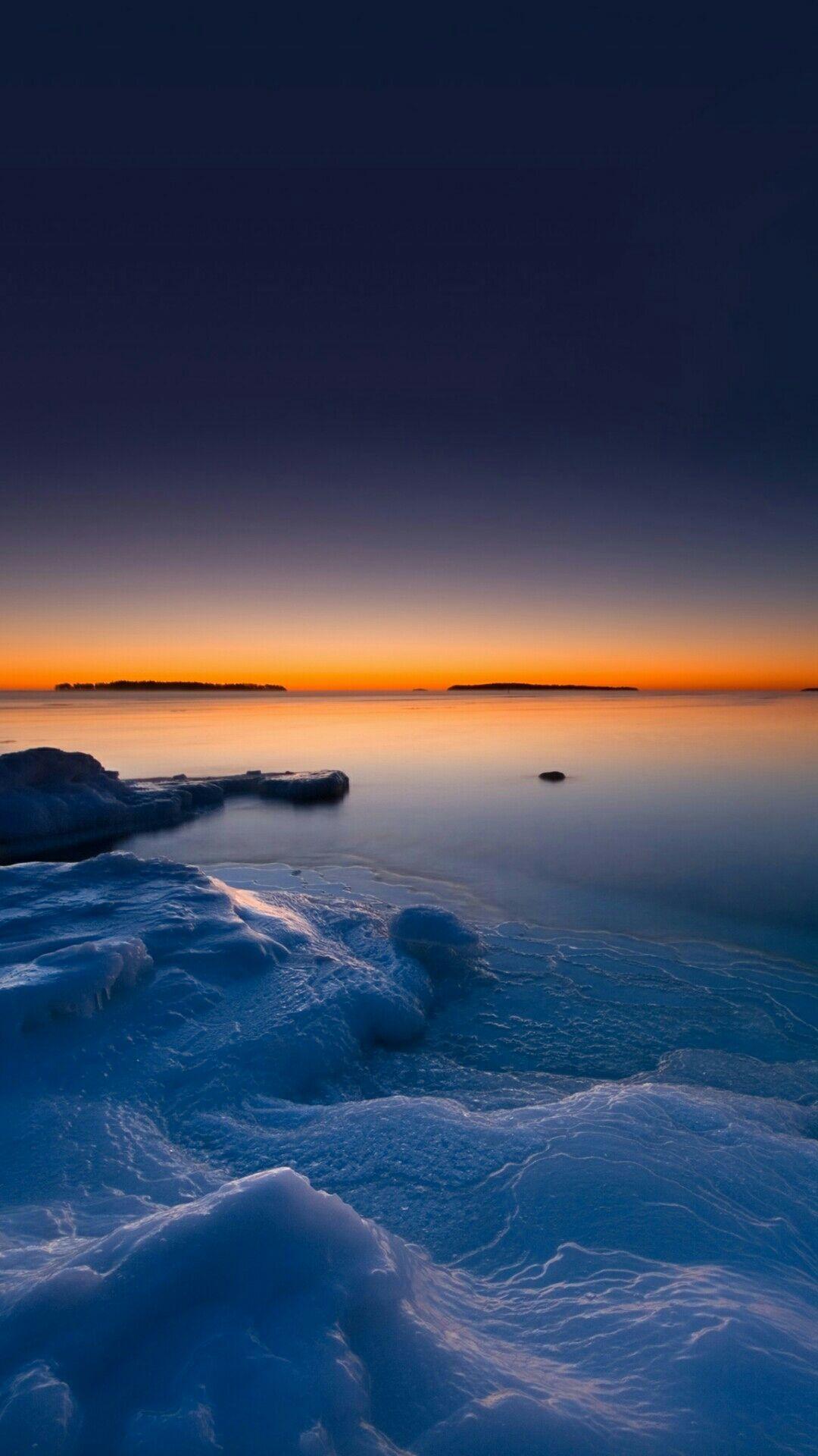 Beach Beautiful Nature Colorful Sunset Blue Ocean Sky Waves