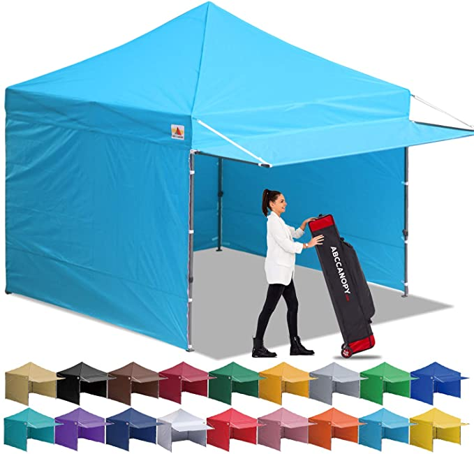 Amazon Com Abccanopy Canopy Tent 10 X 10 Pop Up Instant Shelters Commercial Portable Market Canopies With Matching Sidewalls We In 2020 Canopy Tent Tent Weight Bags