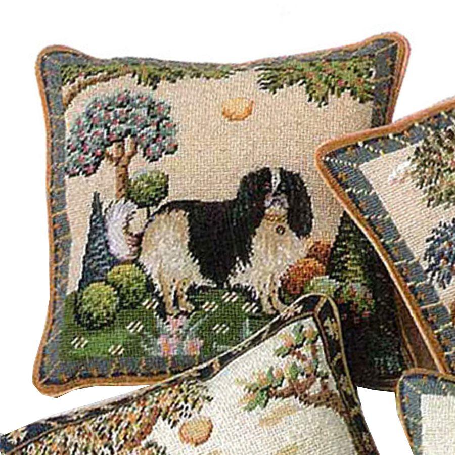 King Charles Spaniel Needlepoint Pillow Cavalier King Charles Dog Charles Spaniel King Charles Cavalier Spaniel Puppy