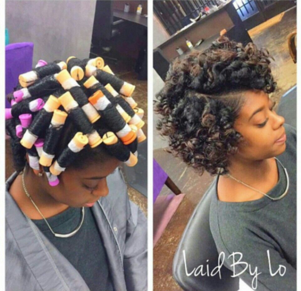 Pin By Missy Baby On Hairstyles Beauty Roller Set Hairstyles Short Natural Hair Styles Medium Hair Styles