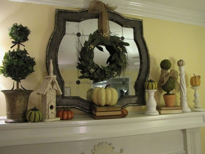 Fall mantle decorating ideas 63 exciting fall mantel for Mantel decorating tips