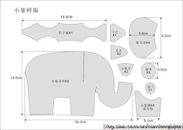 Ideas para el hogar cojines elefantes con moldes de - Ideas para hacer cojines ...
