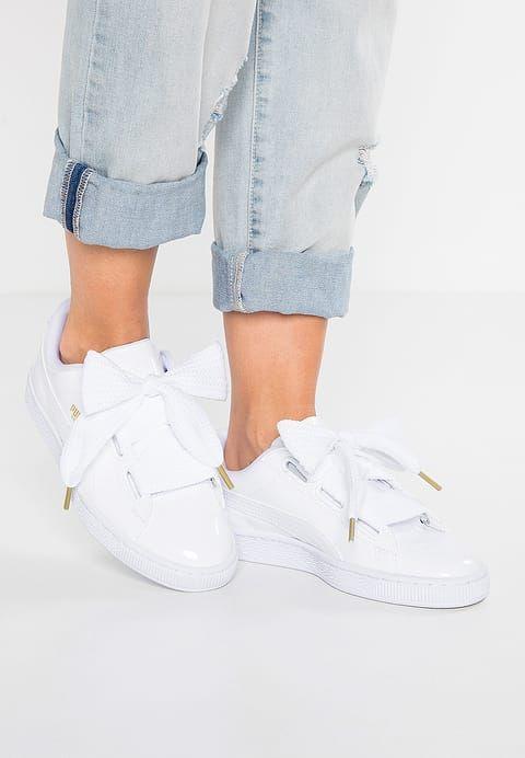 BASKET HEART PATENT - Sneakersy niskie - white @ Zalando.pl ...