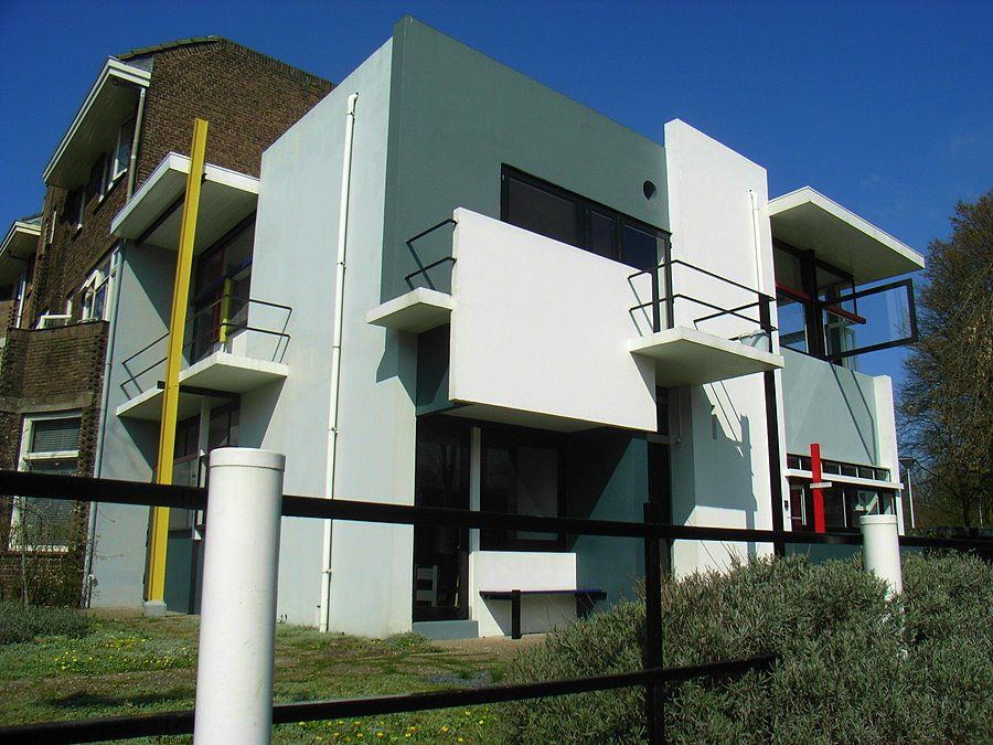 Gerrit thomas rietveld schroder house 1924 geometric for Architect moderne stijl