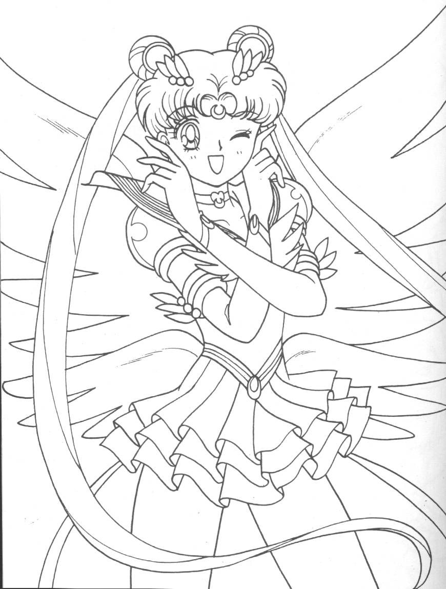 sailor moon coloring page coloring pages pinterest