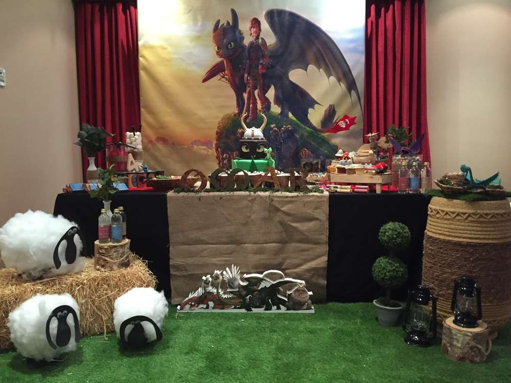 how to train a dragon party ideas