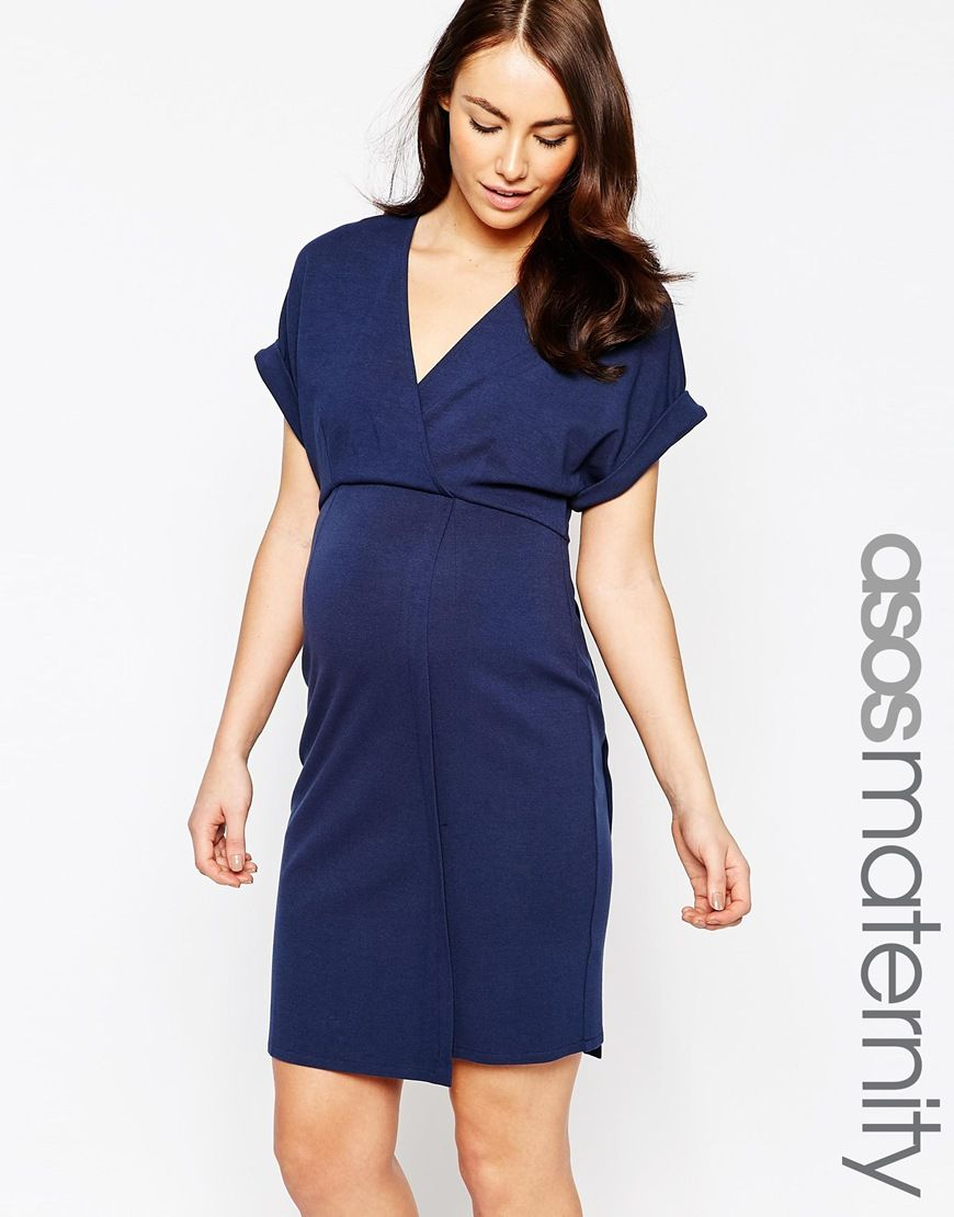 Image 1 of asos maternity wrap dress in ponte maternity fashion image 1 of asos maternity wrap dress in ponte ombrellifo Choice Image