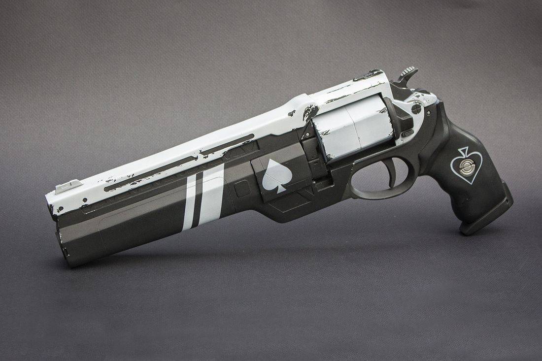 a285ecd9640 The Ace of Spades is one of our largest hand cannons to date with a final  length of 17 inches. Description from impactcustoms.com.