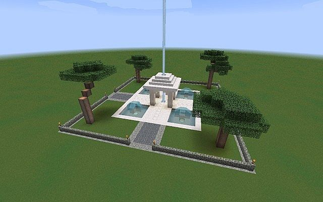 how to make a minecraft fountain