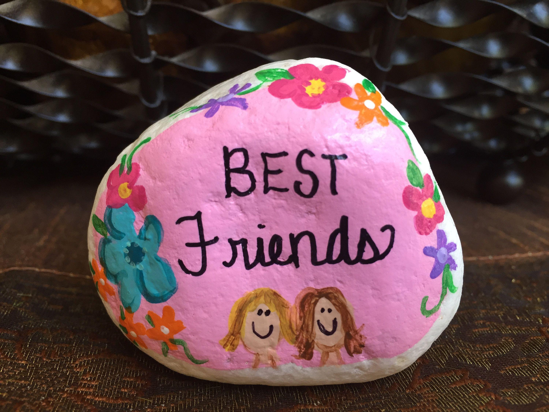 Best friends garden stone painted rocks hand painted