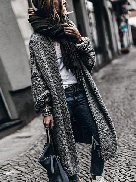 Cashmere Batwing Sleeve Knit Coat Fall/Winter 2019