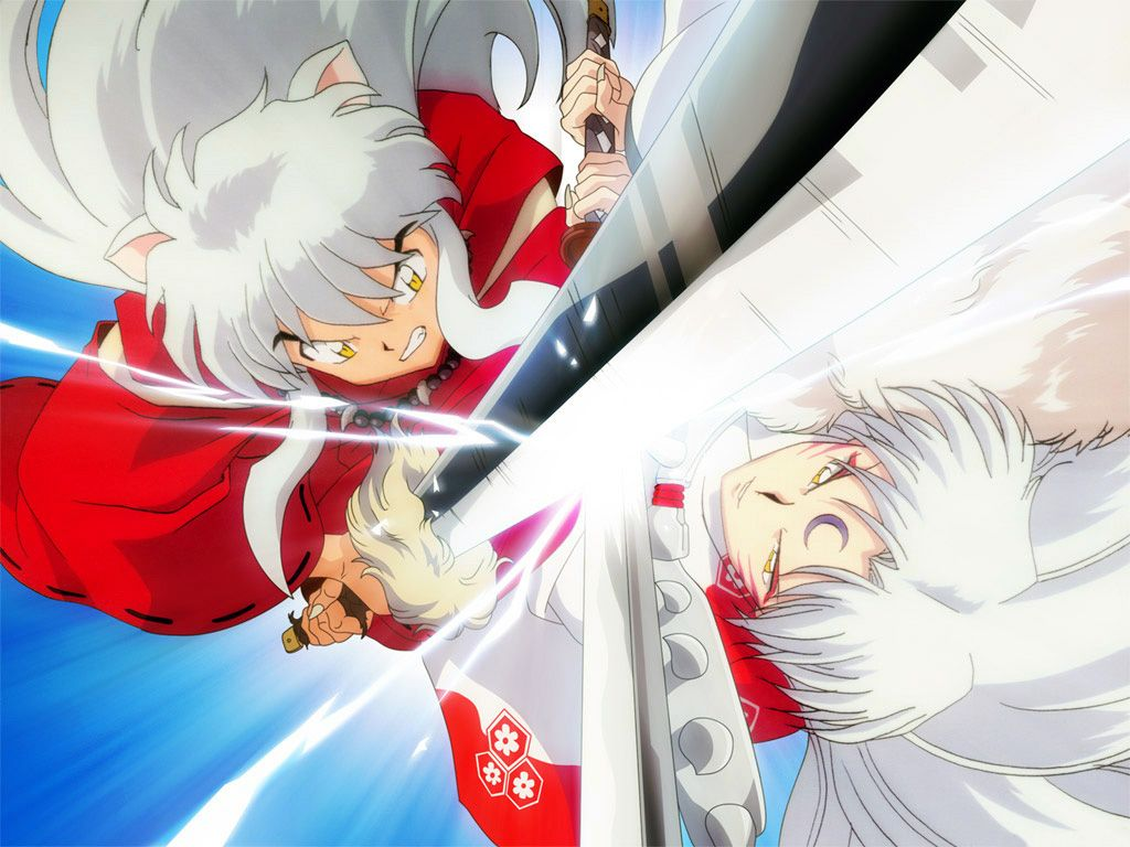 Inuyasha And Lord Sesshomaru Inuyasha Inuyasha Anime Inuyasha