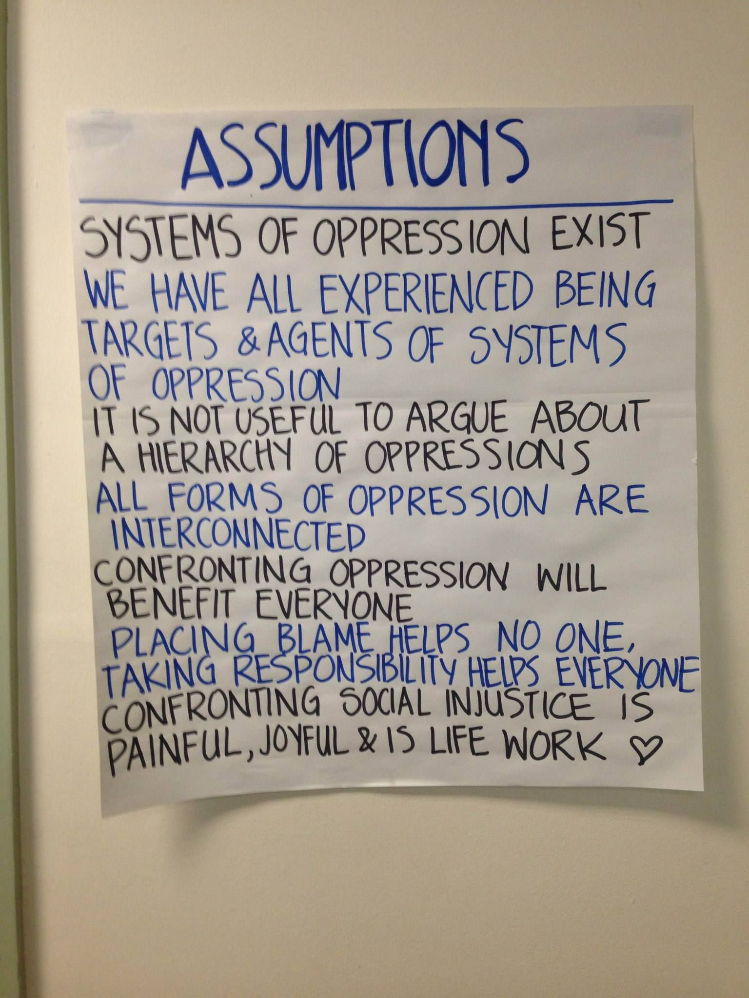 assumptions of an anti oppressive curriculum teaching learning  assumptions of an anti oppressive curriculum