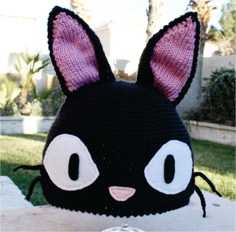 Jiji the talking black cat kikis delivery service inspired hat jiji the talking black cat kikis delivery service inspired hat studio ghibli ish japanese bankloansurffo Images