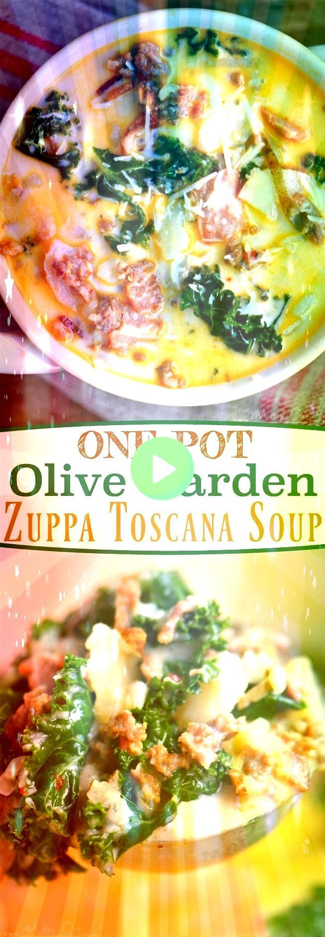 #zuppatoscana #timeoutone #delicious #loadedone #potatoes #sausage #toscana #comfort #filling #recipes #timeout #recipe #family #dinner #gardenPot Olive Garden Zuppa Toscana Soup! Comfort food at it's best! Loaded with bacon, sausage, potatoes, and kale! So delicious and filling, the whole family will love this soup!  // Mom On TimeoutOne Pot Olive Garden Zuppa Toscana Soup! Comfort food at it's best! Loaded with bacon, sausage, potatoes, and kale! So delicious and filling, the whole fami...Pot  #zuppatoscanasoup