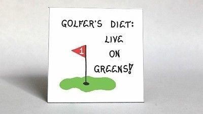 Golf Diet Magnet  humourous golf quote dieting putting green red flag  Golf Diet Magnet  humourous golf quote dieting putting green red flag