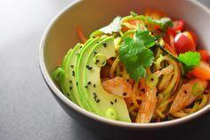 Spicy Thai Chicken Zoodle Salad | Award-Winning Paleo Recipes | Nom Nom Paleo®