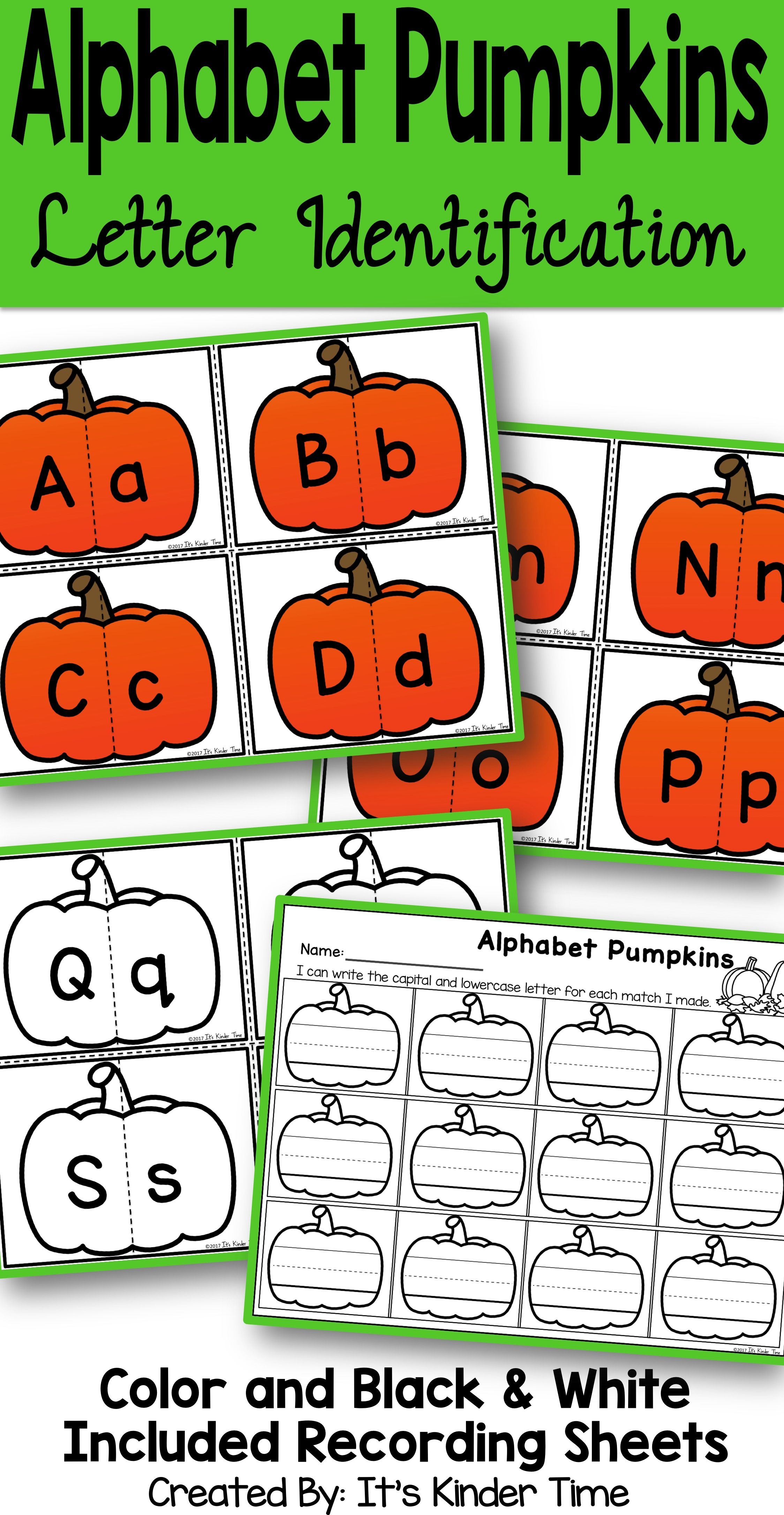 Alphabet Pumpkins