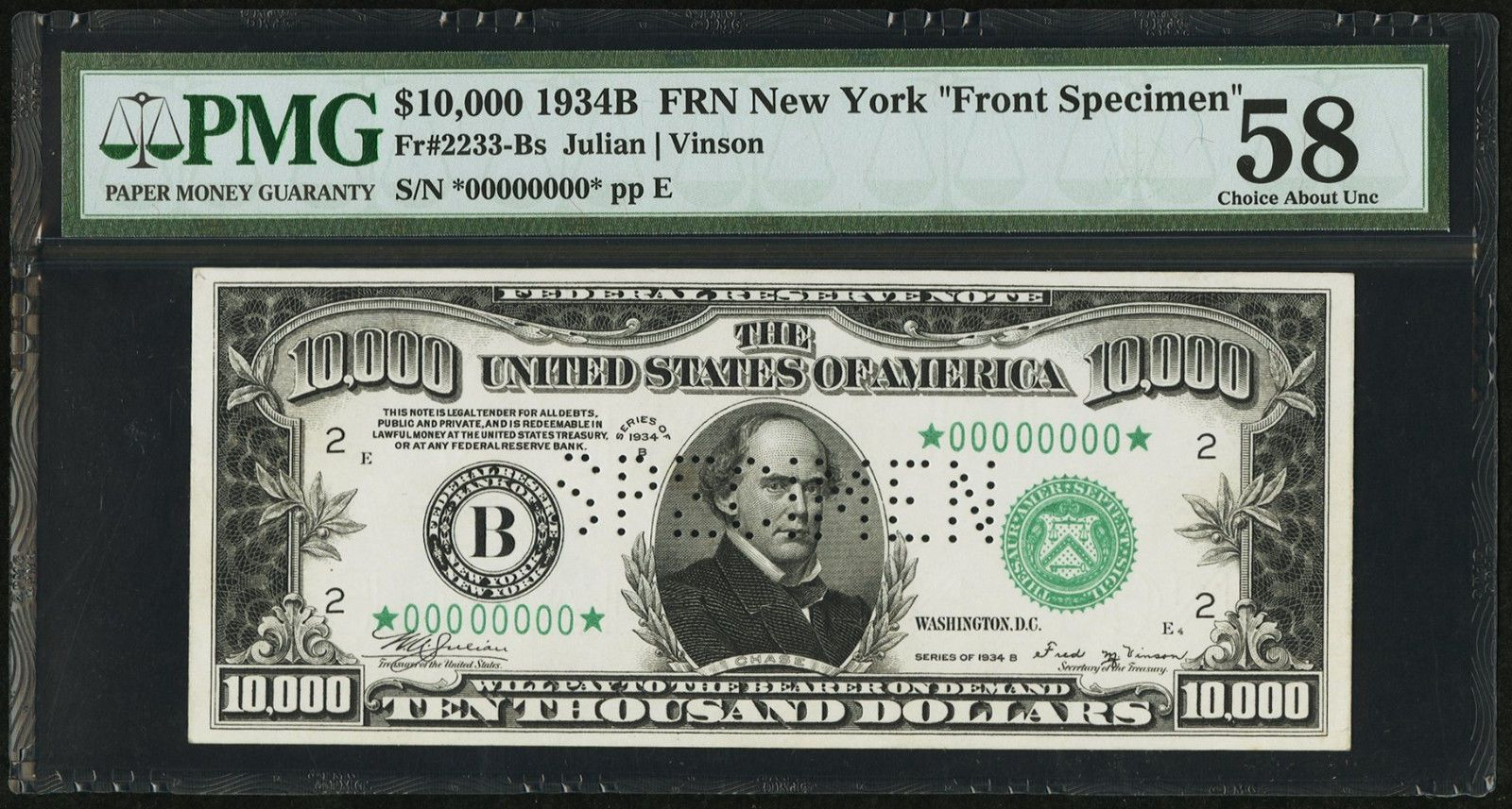 Fr B B 10 000 Frn Federal Reserve Note Front