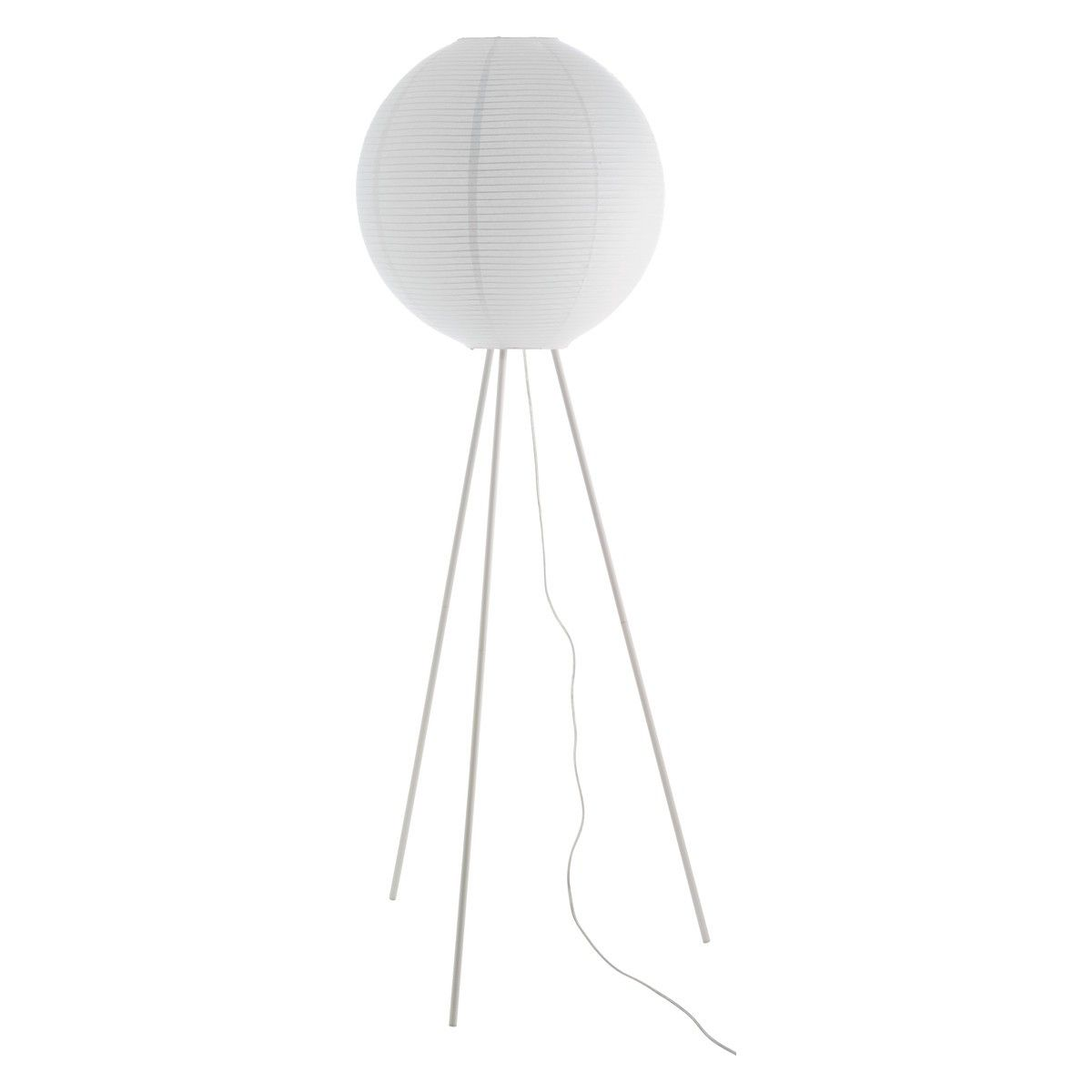 Paper Shade Floor Lamp Adorable Leander White Metal Tripod Floor Lamp With Paper Shade  Tripod Decorating Design