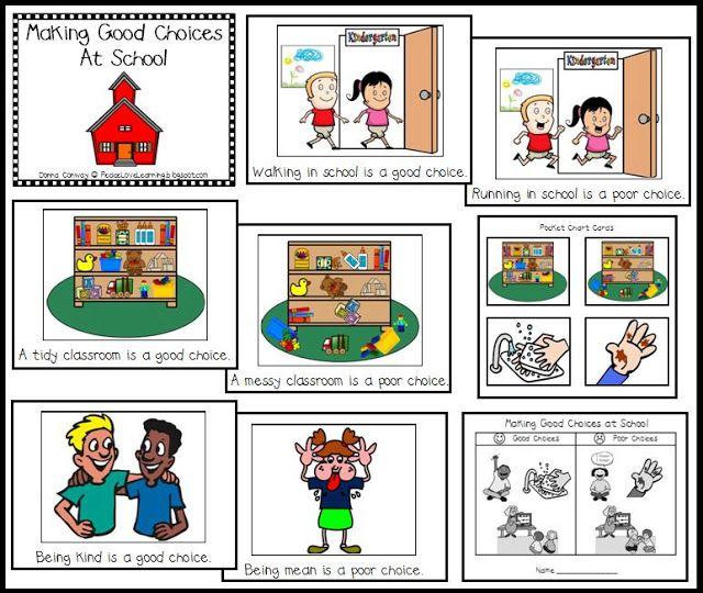 good choice bad choice chart: Beg school good bad choices more classroom behaviors emotions