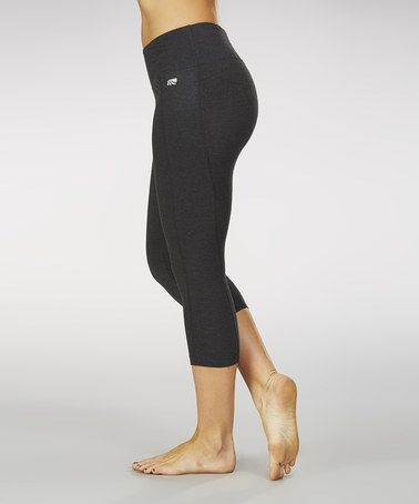 Another great find on #zulily! Heather Charcoal Slimming Capri Leggings #zulilyfinds