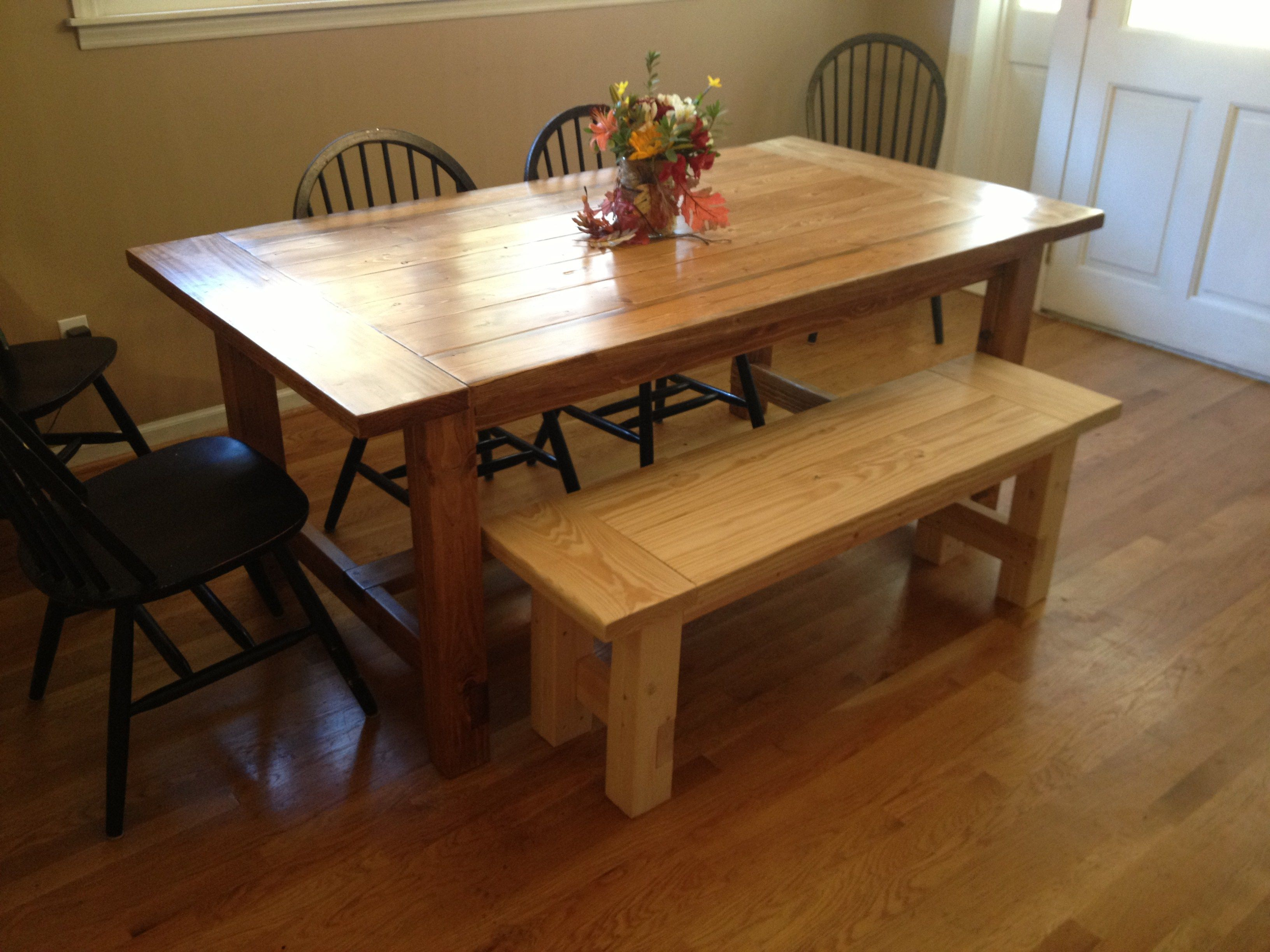 My Rustic Farmhouse Table  The Finished Product  Furniture Stunning Rustic Kitchen Tables Inspiration