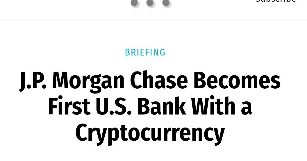 I'm pretty sure we all heard of/know JP Morgan Chase Bank