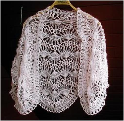 creative+crochet+patterns+free | Free pattern Hairpin Lace Shawl ...