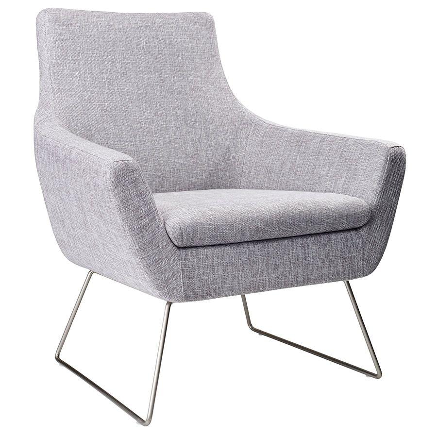 Attractive Kimmel Modern Lounge Chair In Light Grey