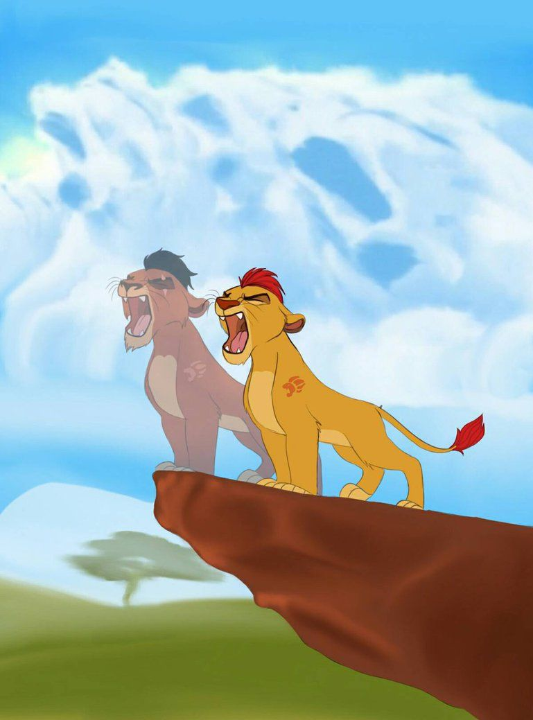 I Do This Fan Art To The New Cartoon The Lion Guard Behind