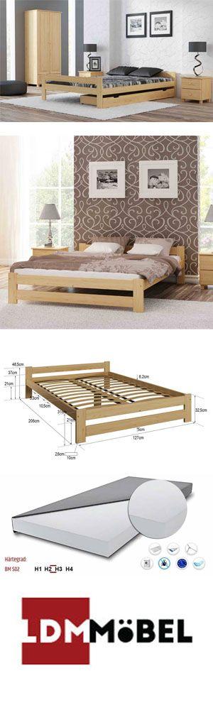 Das Bett Ist Ein Starkes Holzbett Mit Hochwertigem