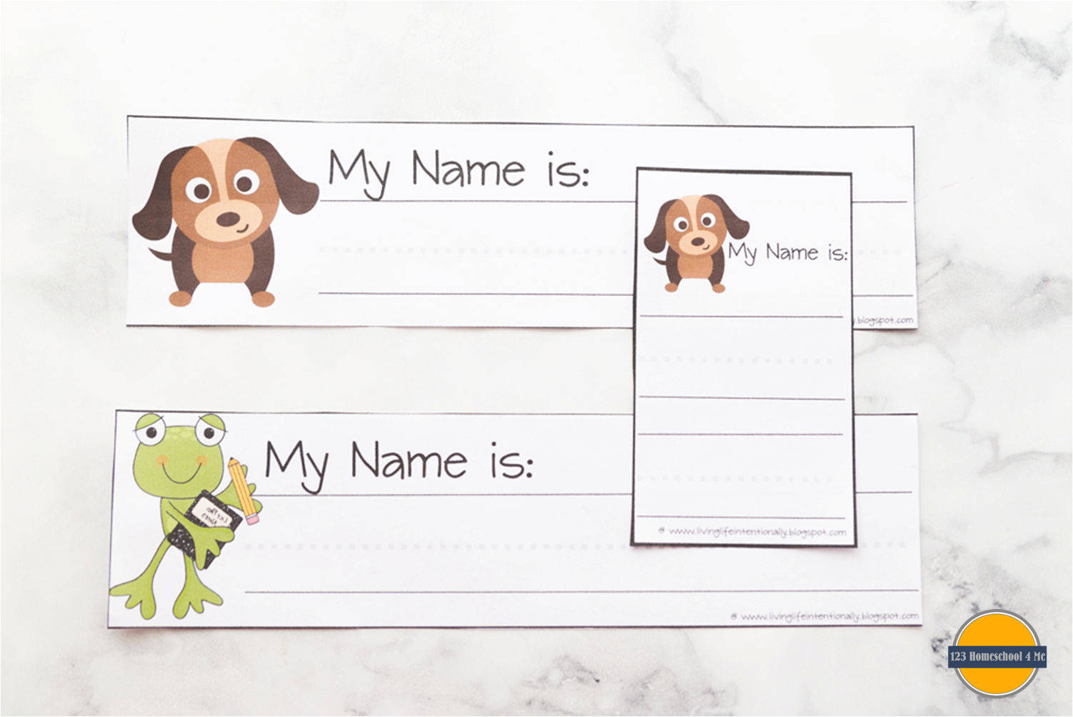 Free Learn My Name Amp Address Printables