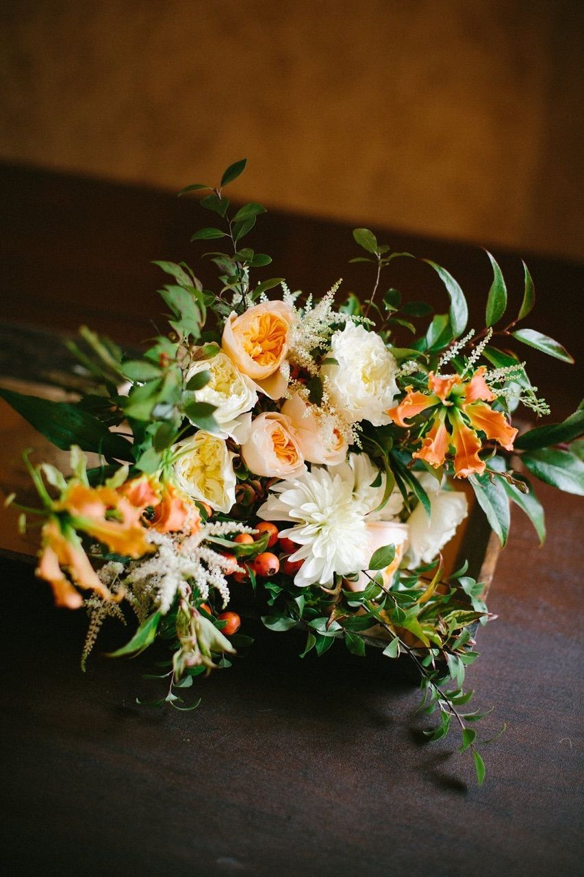 Sweeping And Vibrant Bridal Bouquet Floral Design Winston