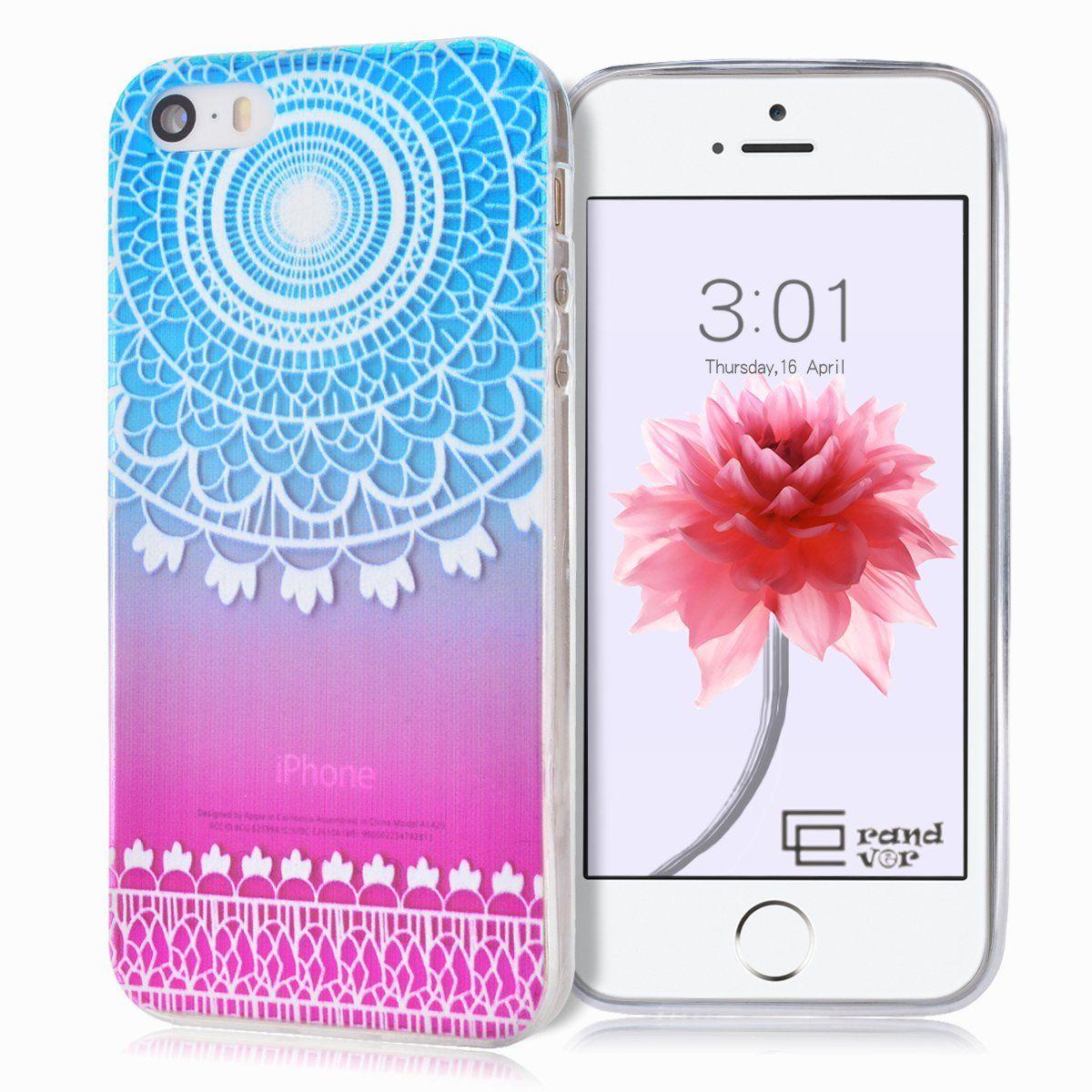 Grandever flexible gel case for iphone 5 iphone 5s tpu