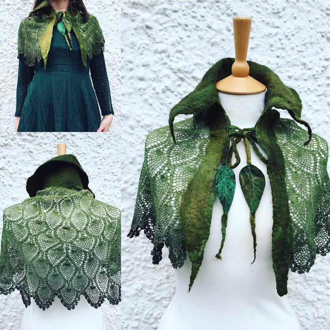 I Made These Little Cape A While Ago Would Something Similar Be A Good Idea For Spring Elven Cape Shawl Larp Costume Larp Costume Female Fantasy Costumes