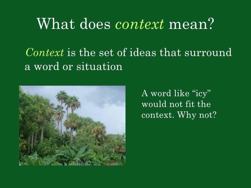 Context Clues With Images