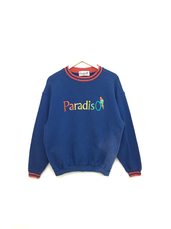 Vintage 90 S Paradiso Sweatshirt Nice Design Large Size Etsy Sweatshirts Vintage Sweatshirt Weird Shirts [ 3000 x 2250 Pixel ]