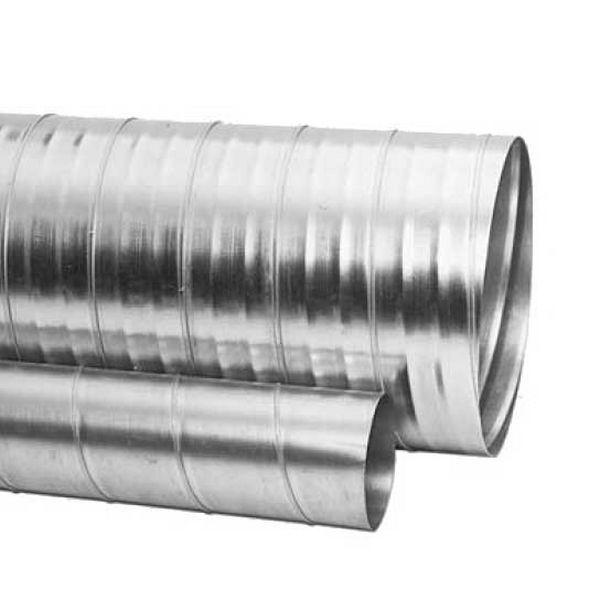 Galss 100 Galvanised Spiral Duct 3m 100mm Straight Duct Galvanised Safe Rigid Metal Ducting Ducting Metal Uk Duct Work Spiral Galvanized