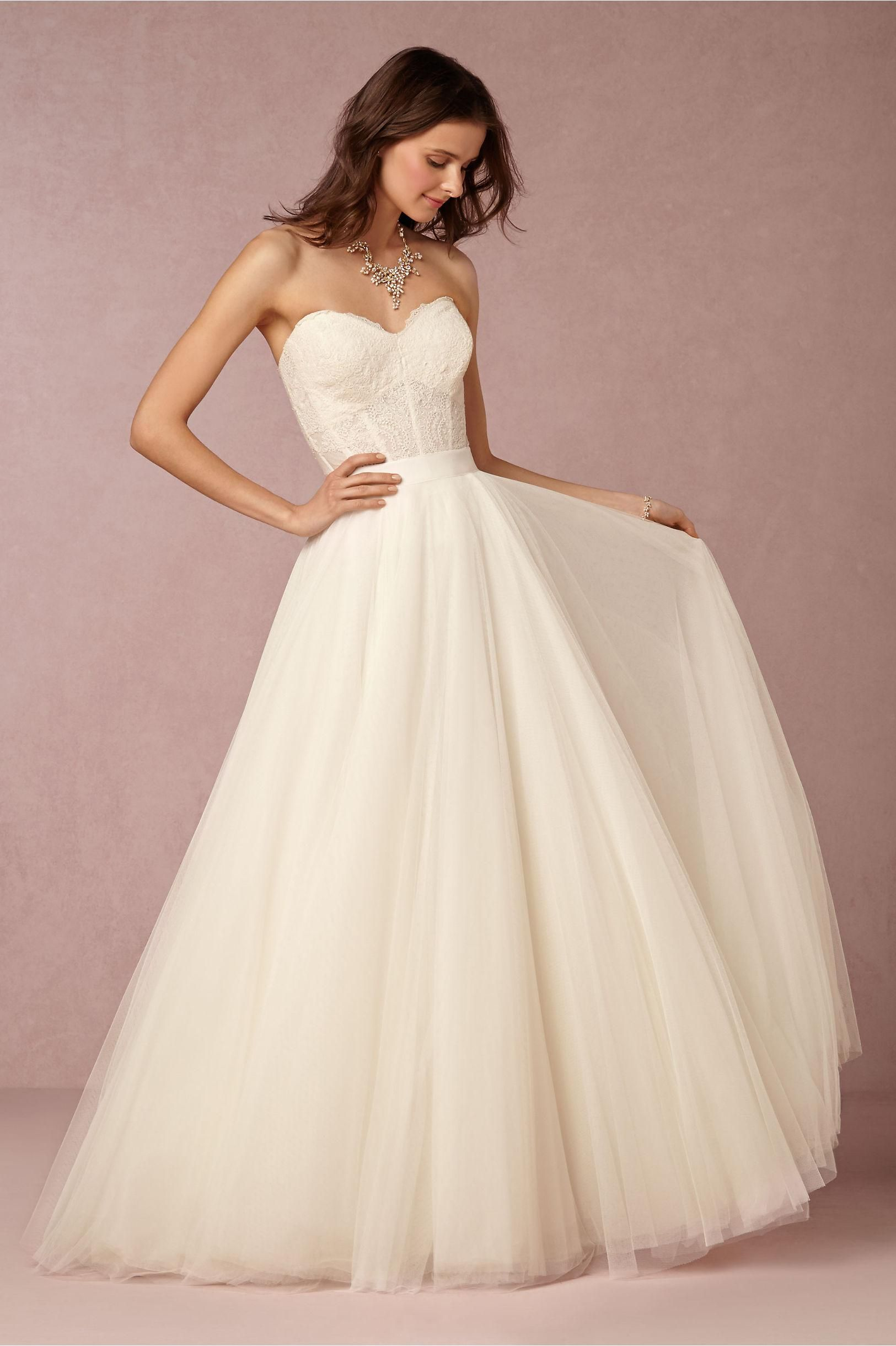 Wedding Designers Bhldn 2016 Cheap Dresses Sweetheart Appliques Tulle A Line White Bridal Gowns With