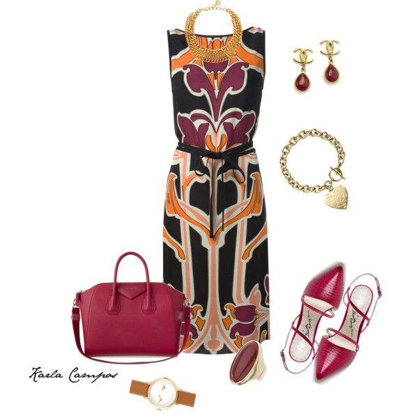 Karla Campos by karlacampos1971 on Polyvore featuring moda, Gucci, Alice + Olivia, Givenchy, Chanel, Ben-Amun and Michael Kors