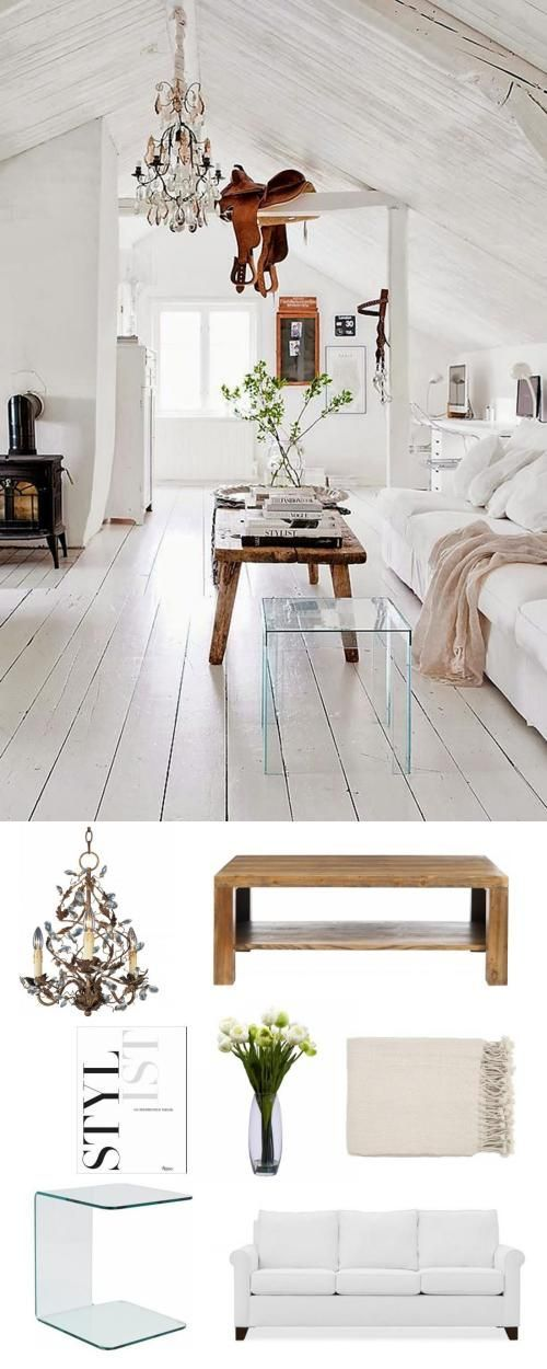 awash in white. #livingroom #adoredecor