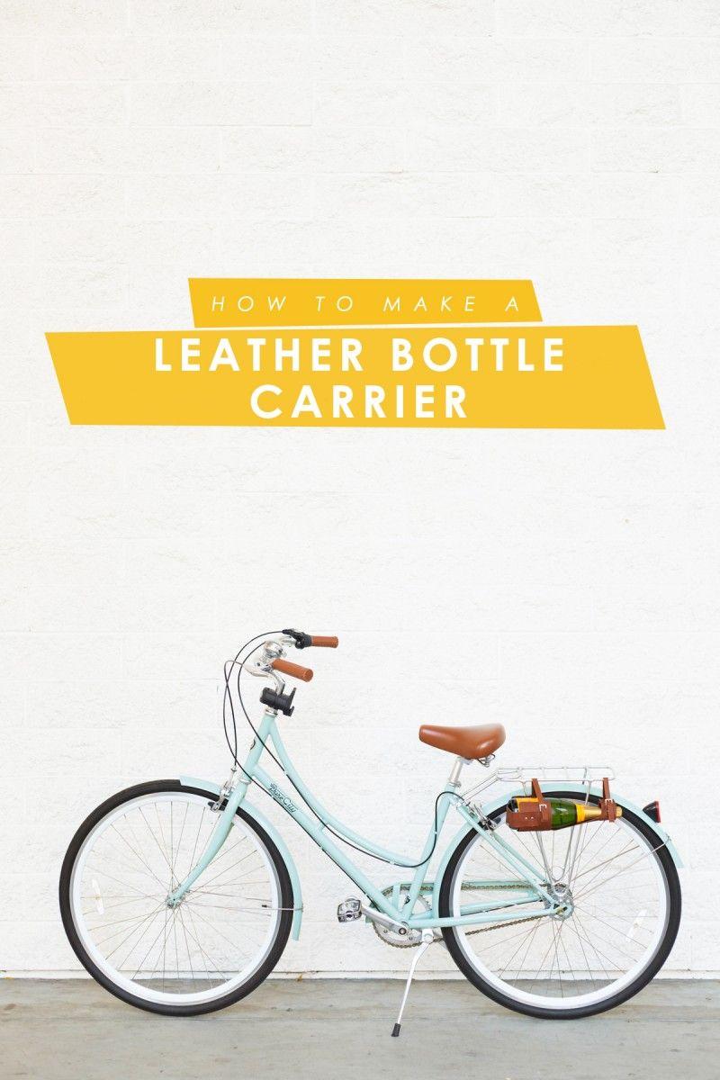 Diy wine bottle carrier bike giveaway bottle carrier