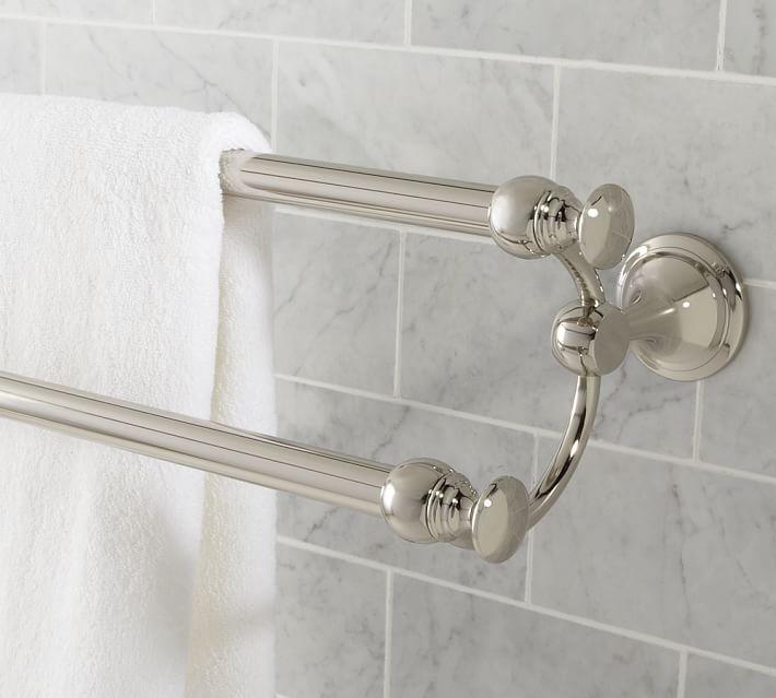Mercer Double Towel Bar 24 Quot Satin Nickel Finish At
