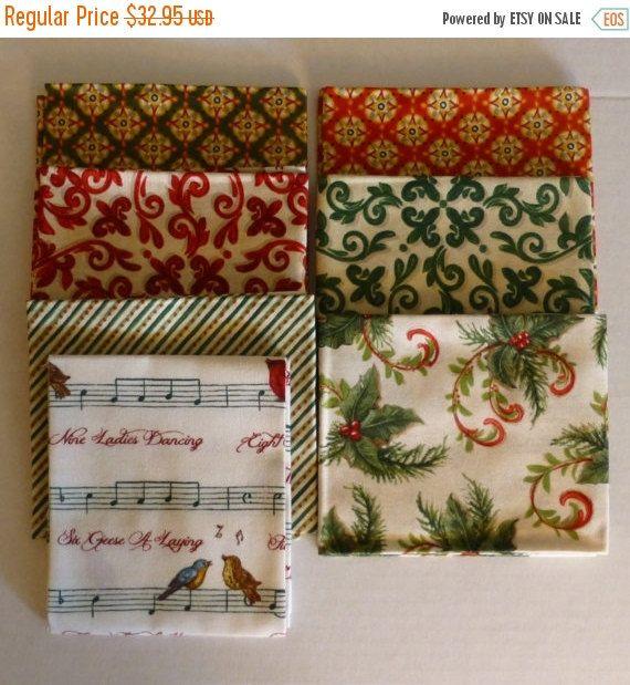 Clearance Sale Cotton Fabric, Quilt, Home Decor, Christmas Fat - christmas clearance decor