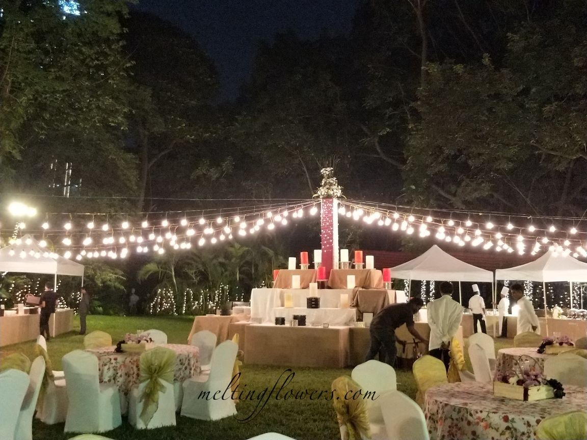 Open Garden Wedding Decoration At Taj West End Hotel
