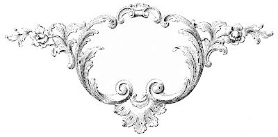 Vintage Clip Art - Ornaments & Frames with Scrolls - The Graphics Fairy