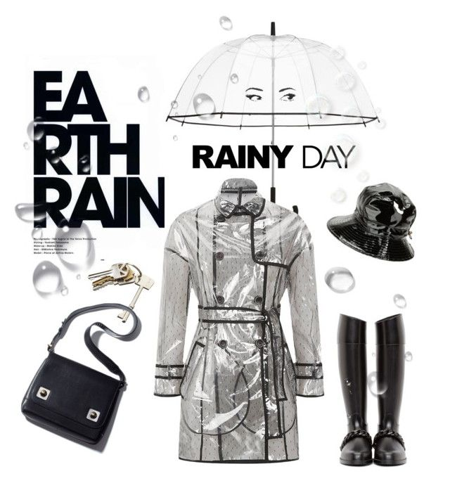 """RAIN"" by hellodollface ❤ liked on Polyvore featuring Kate Spade, Karen Kane, Givenchy, CB2 and rainydaystyle"