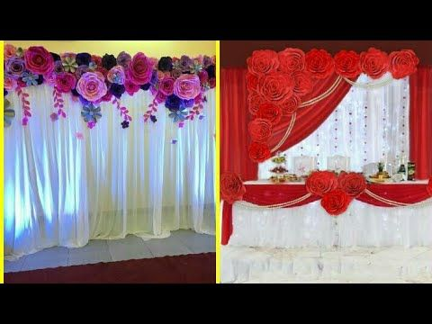 Beautiful Paper Flower Backdrop Ideas Stylish Paper Flower