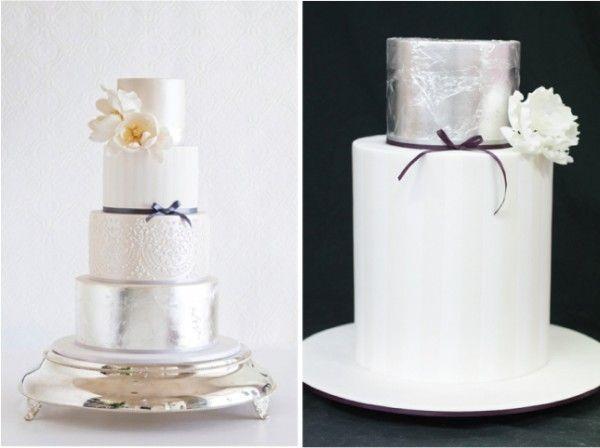 striking #metallic and #golden cakes